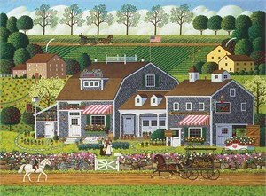 "Charles Wysocki Anniversary Fine Art Open Edition Giclée Canvas:""Prairie Wind Flowers"""