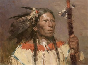 "Z.S. Liang Handsigned and Numbered Limited Edition Canvas Giclee:""Fish Hawk"""