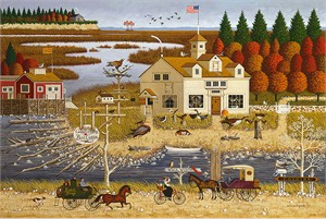 "Charles Wysocki Anniversary Fine Art Open Edition Giclée Canvas:""Carver Coggins"""