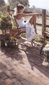 "Steve Hanks Hand Signed and Numbered Limited Edition Anniversary Canvas Giclée :""Where the Healing Begins"""