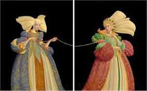 """James Christensen Handsigned and Numbered Limited Edition Fine Art Print Diptych:""""The Tie That Binds (Suite of 2)"""""""