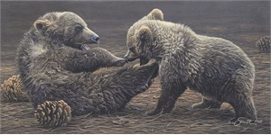"Daniel Smith Handsigned and Numbered Limited Edition Canvas Giclee:""Brawlin' Bruins"""