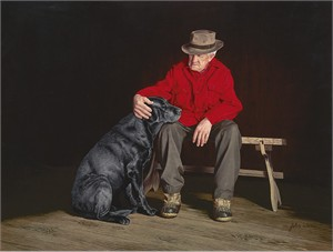 """John Weiss Hand Signed and Numbered Limited Edition Canvas Giclee:"""" Forever Friends"""""""