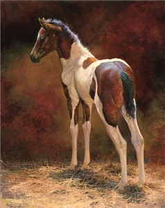 """Bonnie Marris Handsigned and Numbered Limited Edition Canvas Giclee: """"Pawnee"""""""