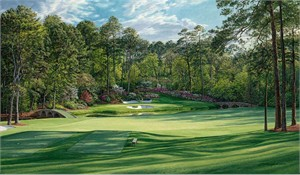 "Linda Hartough Hand Signed and Numbered: ""Artist Proof - 12th Hole, 2002 'Golden Bell', Augusta - Fine Art Paper"""
