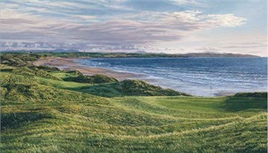 """Linda Hartough Hand Signed and Numbered: """"Limited Edition - 11th Hole, Ballybunion Golf Club - Canvas Gicl�e"""""""