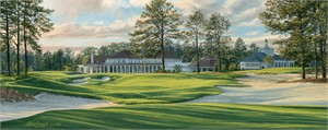 """Linda Hartough Hand Signed and Numbered: """"Artist Proof - The 18th Hole, No 4, Pinehurst Golf Club - Canvas Gicl�e"""""""