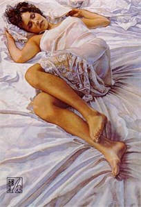 "Steve Hanks Limited Edition Print: ""When Her Blue Eyes Close"""
