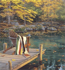 "Darrell Bush Handsigned and Numbered Limited Edition Print:""Reflection on Golden Pond"""