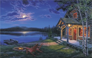"""Darrell Bush Handsigned and Numbered Limited Edition Print:""""The Perfect Getaway"""""""