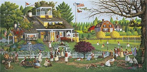 "Charles Wysocki Handsigned and Numbered Limited Edition Canvas:""Love - Canvas"""
