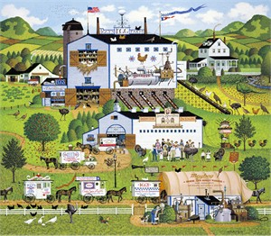 """Charles Wysocki Handsigned and Numbered Limited Edition Canvas:""""Sunnyside Up - Canvas"""""""
