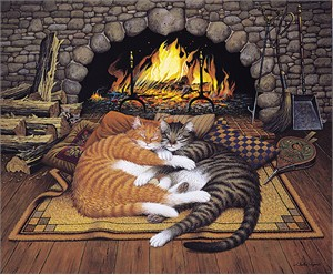"Charles Wysocki Handsigned and Numbered Limited Edition Canvas:""All Burned Out - Canvas"""