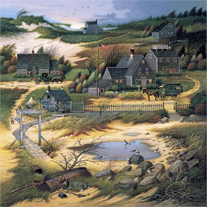 "Charles Wysocki Handsigned and Numbered Limited Edition Canvas:""Olde Nantucket - Canvas"""