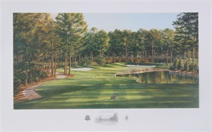 "Steve Lotus Handsigned and Numbered Limited Edition Print:""2001 Atlanta Club Highlands Hole #15"""