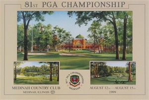 "Steve Lotus Open Edition Print:""1999 Medinah CC Official Poster"""