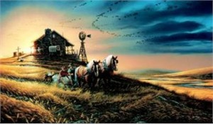 "Terry Redlin Limited Edition Print: ""For Amber Waves of Grain"""