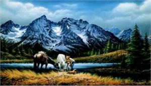 """Terry Redlin Limited Edition Print: """"For Puprle Mountains Majesty"""""""