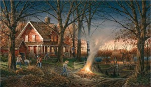 "Terry Redlin Hand signed and Numbered Limited Edition Artist Proof Print: ""Autumn Evening"""