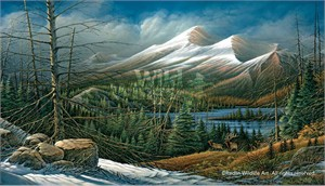 "Terry Redlin Handsigned and Numbered Limited Edition Artist Proof Print: ""Master of the Valley"""
