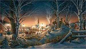 "Terry Redlin Hand Signed and Numbered Master Canvas Edition Print: ""Night on the Town"""