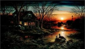 "Terry Redlin Limited Edition Print: ""Shoreline Neighbors"""