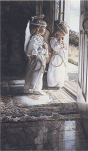 "Steve Hanks Handsigned & Numbered Limited Edition Canvas Giclee:""Little Angels"""