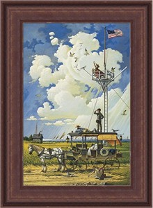 "Charles Wysocki Limited Edition Framed Canvas: ""Young Hearts at Sea"""