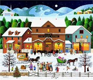 "Charles Wysocki Limited Edition Print: ""Christmas Eve"""