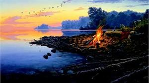 "Darrell Bush Limited Edition Print: ""Fireside Point"""