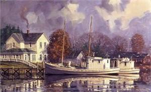 "John Barber Limited Edition Print: ""Peaceful Harbor"""