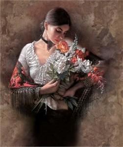 """Lee Bogle Handsigned & Numbered Limited Edition  Canvas Giclee:""""Summer Fragrance I"""""""