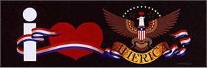 "Charles Wysocki Open  Edition Print: ""I Love America"""