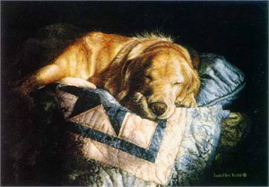 "Suellen Ross Signed Open Edition Print: ""Snooze"""