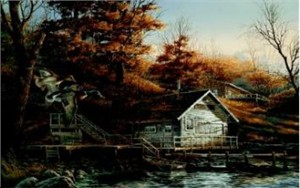 "Terry Redlin Limited Edition Print:""Autumn Shoreline"""