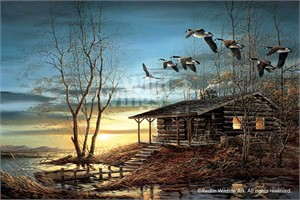 "Terry Redlin Signed and Numbered Legacy Canvas Edition:""Evening Retreat"""