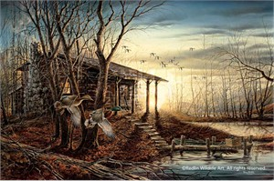 "Terry Redlin Hand Signed and Numbered Legacy Canvas Edition:""Morning Retreat"""