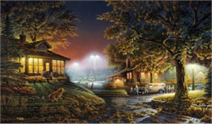 """Terry Redlin Limited Edition Print:""""Highlight of the Neighborhood"""""""
