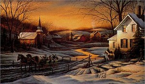 "Terry Redlin Open Signed Edition Print:""Together For The Season"""