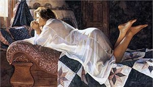 """Steve Hanks Limited Edition Giclee:""""Matters of the Heart """""""