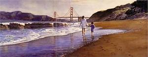 "Steve Hanks Limited Edition Print:""Morning at Baker's Beach"""