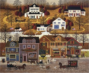 """Charles Wysocki Handsigned and Numbered Limited Edition Legacy Edition: """"Hawk River Hollow"""""""