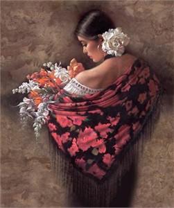 """Lee Bogle Handsigned & Numbered Limited Edition  Canvas Giclee:""""Summer Fragrance lI"""""""