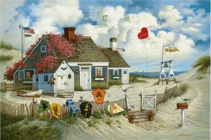 "Charles Wysocki Limited Edition Retrospective Canvas Giclee : ""Rootbeer Break at The Butterfield's"""