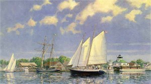 "John M. Barber Limited Edition Print:""Harbor Breezes"""