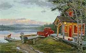 "Darrell Bush Limited Edition Canvas: ""Cabin Fever"""