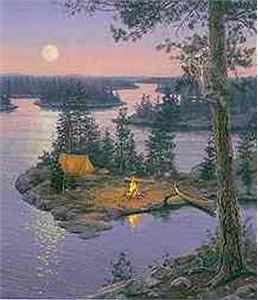 "Darrell Bush Limited Edition Canvas: ""Moondance"""