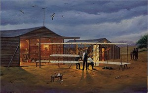 "Dave Barnhouse Hand Signed  Open Edition Print ""Preflight Check at Kitty Hawk """