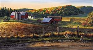 "Darrell Bush Handsigned Open Edition Print:"" Autumn Harvest"""