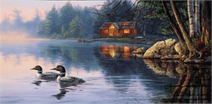"""Darrell Bush Handsigned & Numbered Limited Edition Print:"""" Echo Bay"""""""